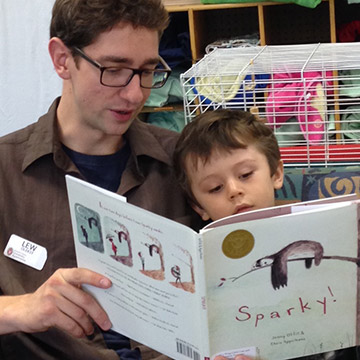 teacher reading to child