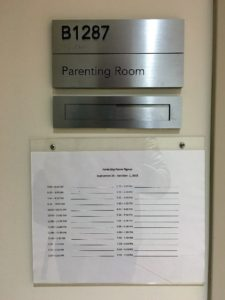 Wisconsin Institutes for Discovery lactation room